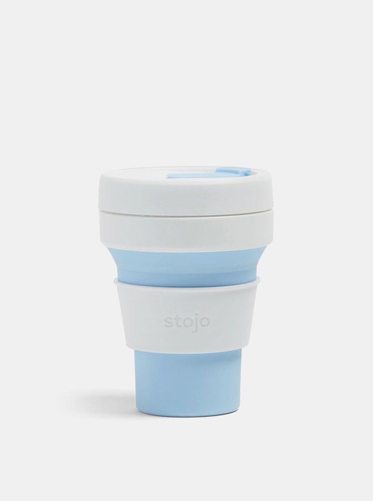 Bílo-modrý cestovní skládací hrnek Stojo Pocket 355 ml