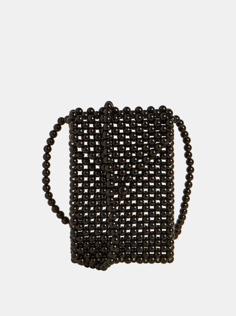 Černá korálková kabelka Object