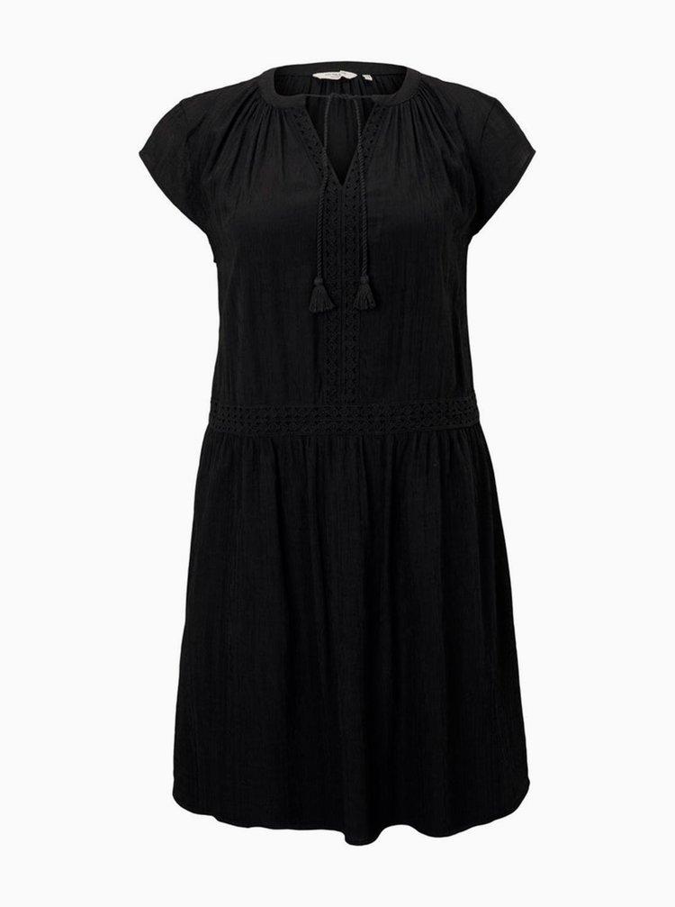 Černé šaty My True Me Tom Tailor