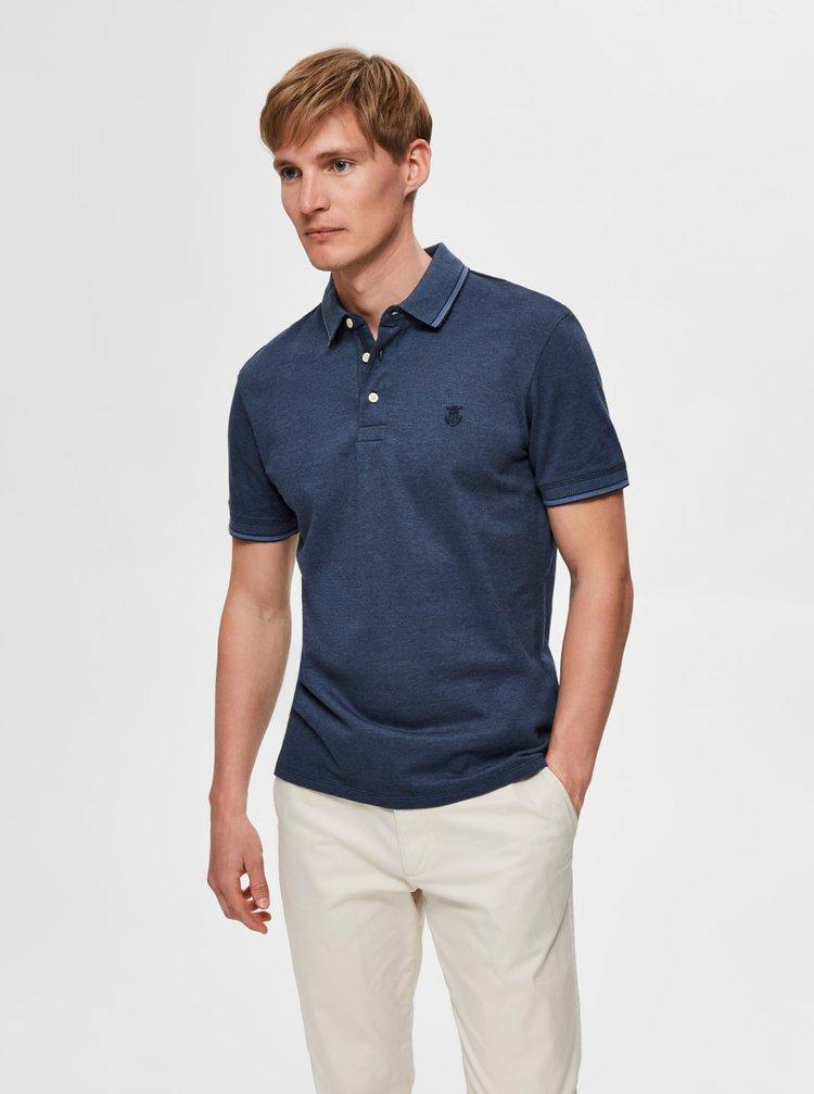 Modré polo tričko Selected Homme Twist