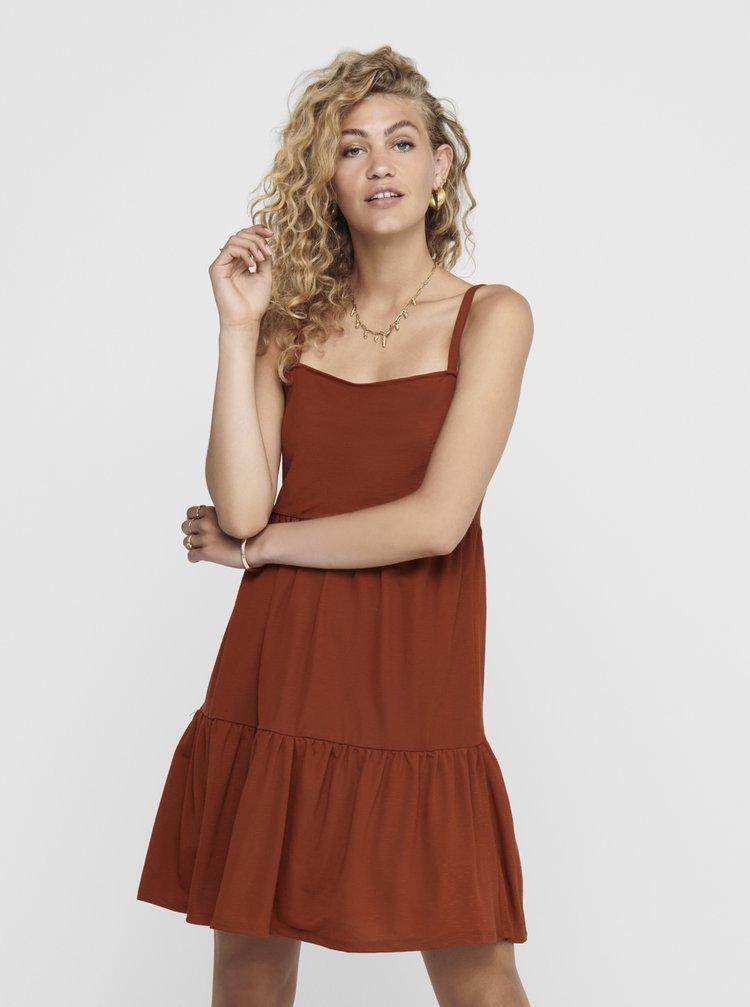 Hnedé šaty ONLY Safi