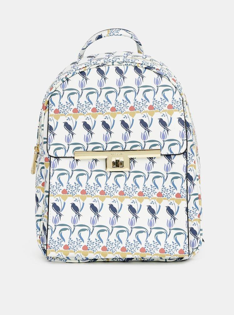 Modro-bílý vzorovaný batoh Bessie London