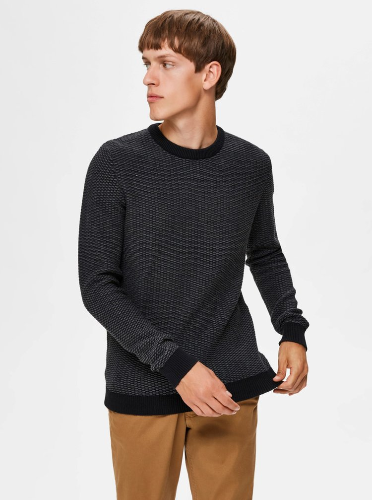 Tmavošedý sveter Selected Homme