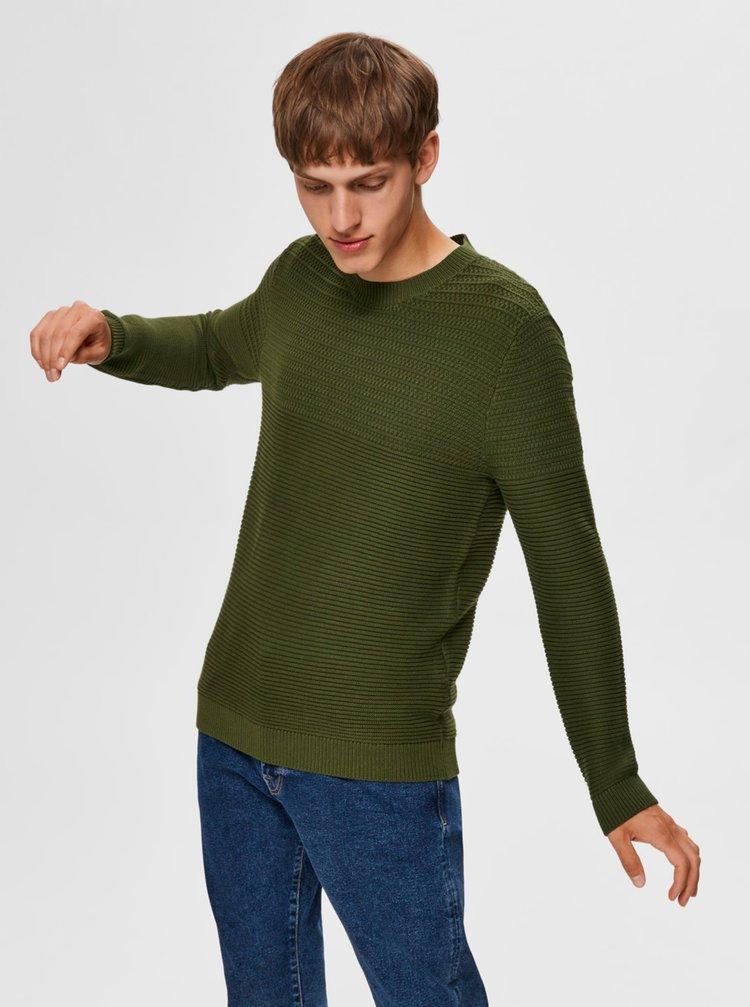 Zelený sveter Selected Homme