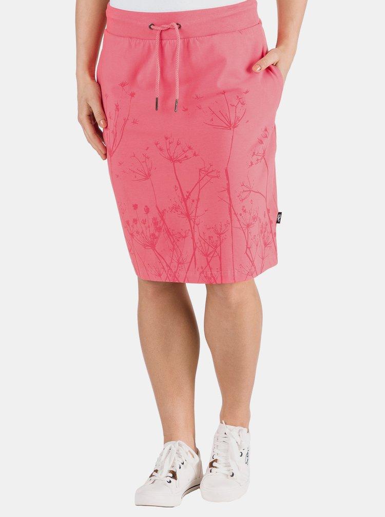 Růžová sukně s potiskem SAM 73