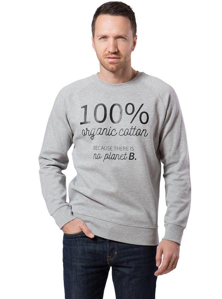 Differenta Design šedá pánská mikina 100% Organic Cotton