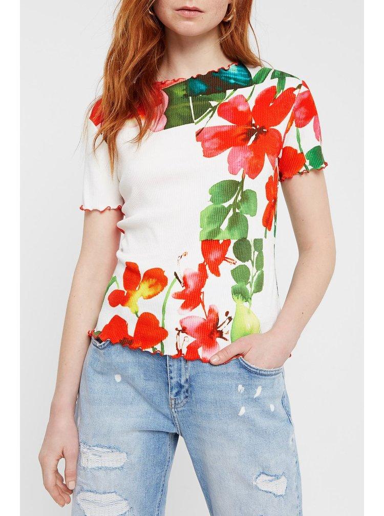 Desigual farebné tričko TS Summer Garden