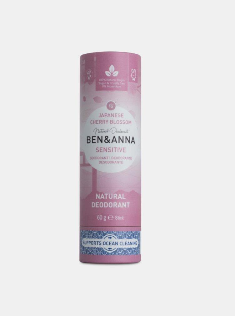 Tuhý deodorant Sensitive BIO - Třešňový květ 60 g Ben & Anna