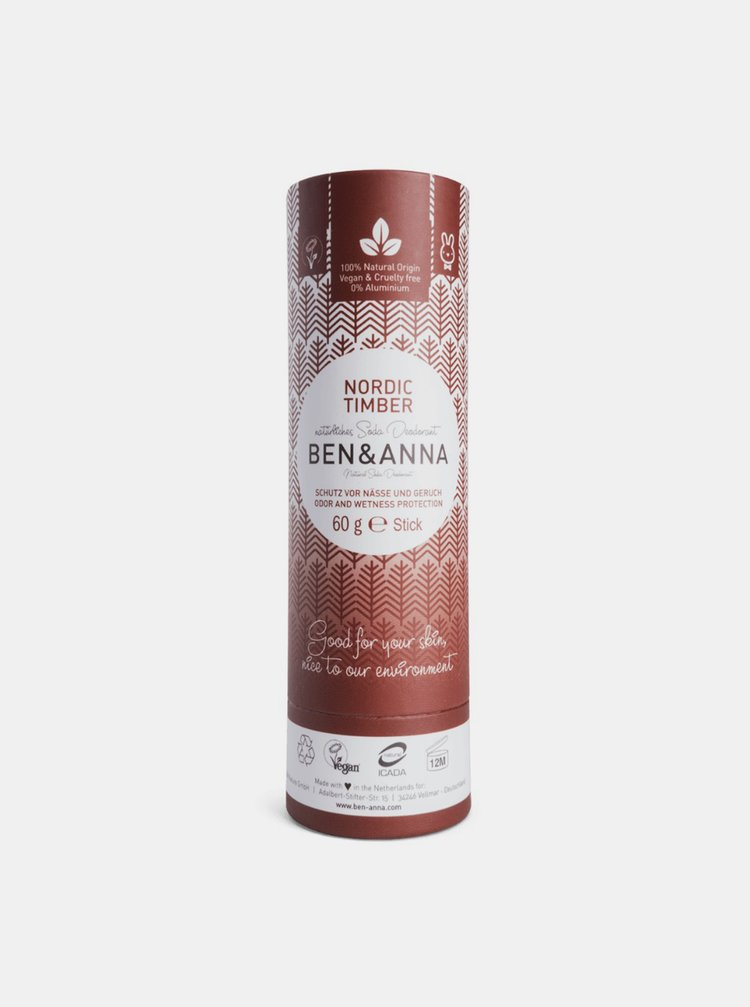 Tuhý deodorant BIO - Severské dřevo 60 g Ben & Anna