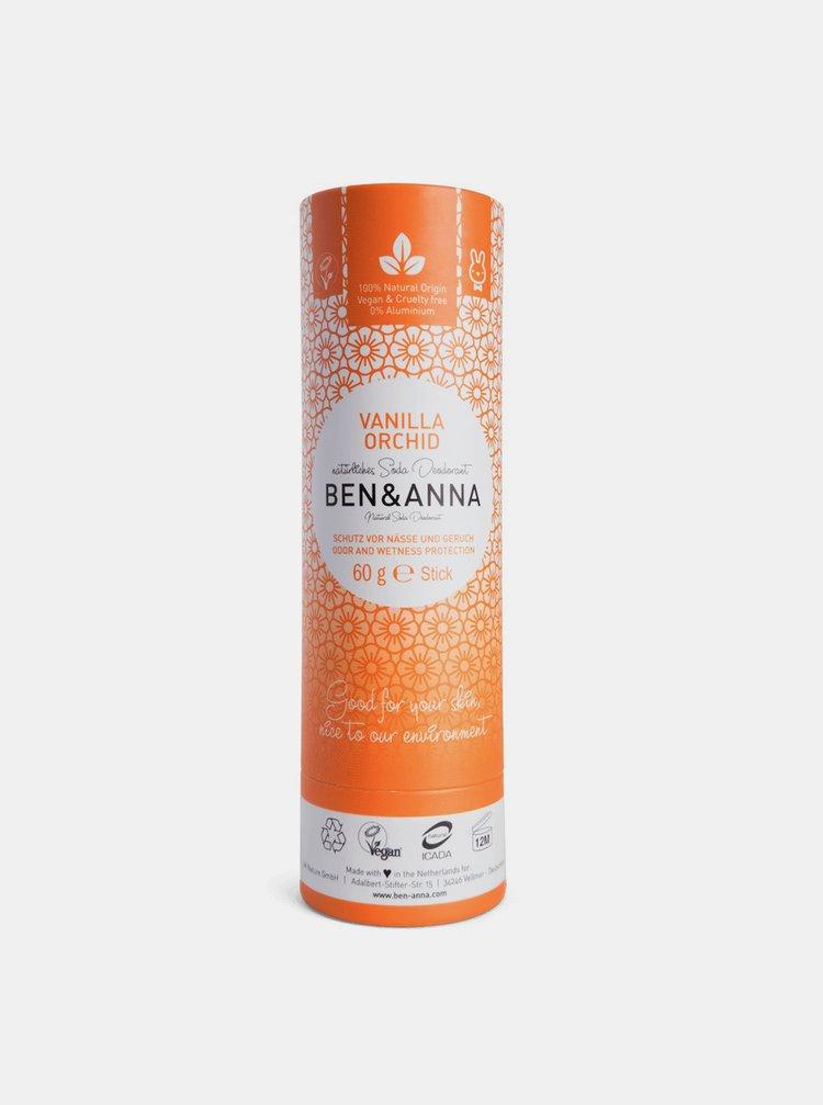 Tuhý deodorant BIO - Vanilková orchidej 60 g Ben & Anna