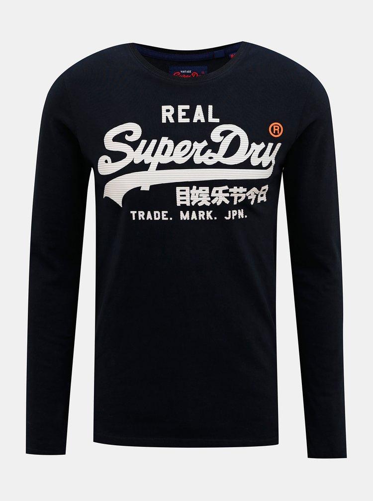Tmavě modré pánské tričko Superdry