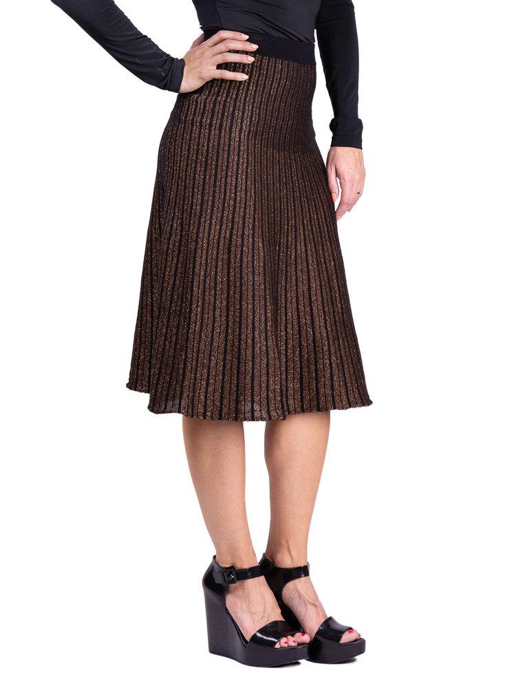 Anany černo-bronzová třpytivá sukně Marbella Dorado