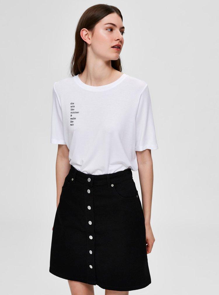 Bílé tričko Selected Femme Summa