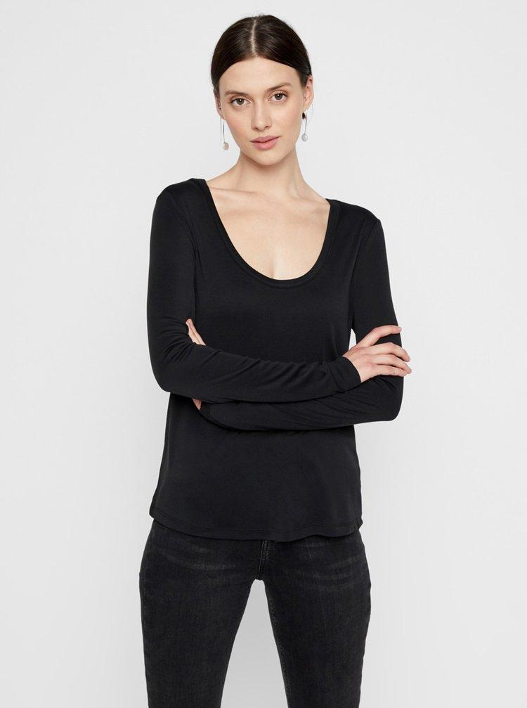 Černé basic tričko Pieces Kaitlin
