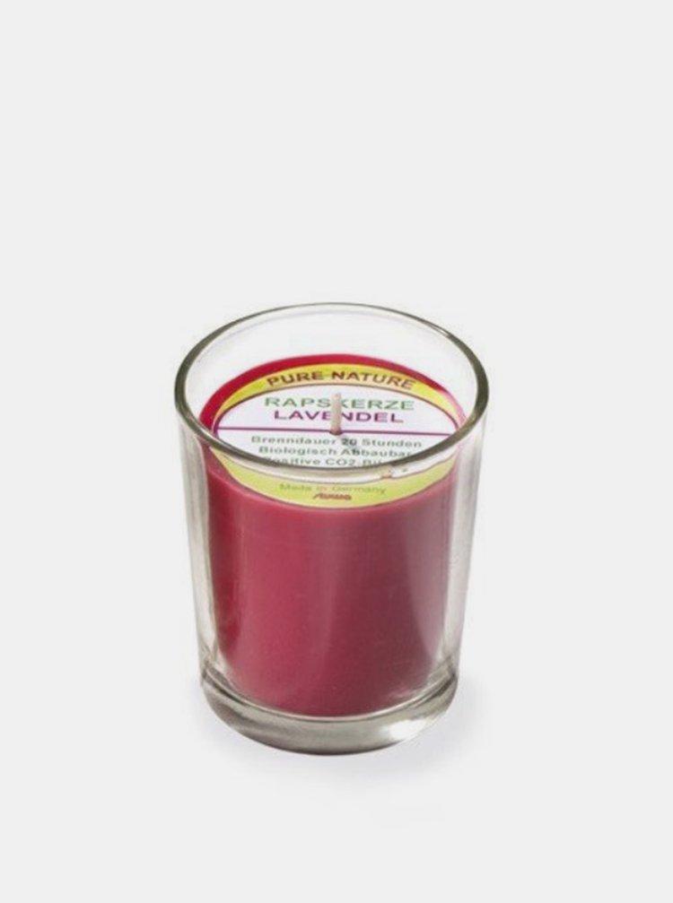 Svíčka ve skle červená - levandule 65 g Stuwa