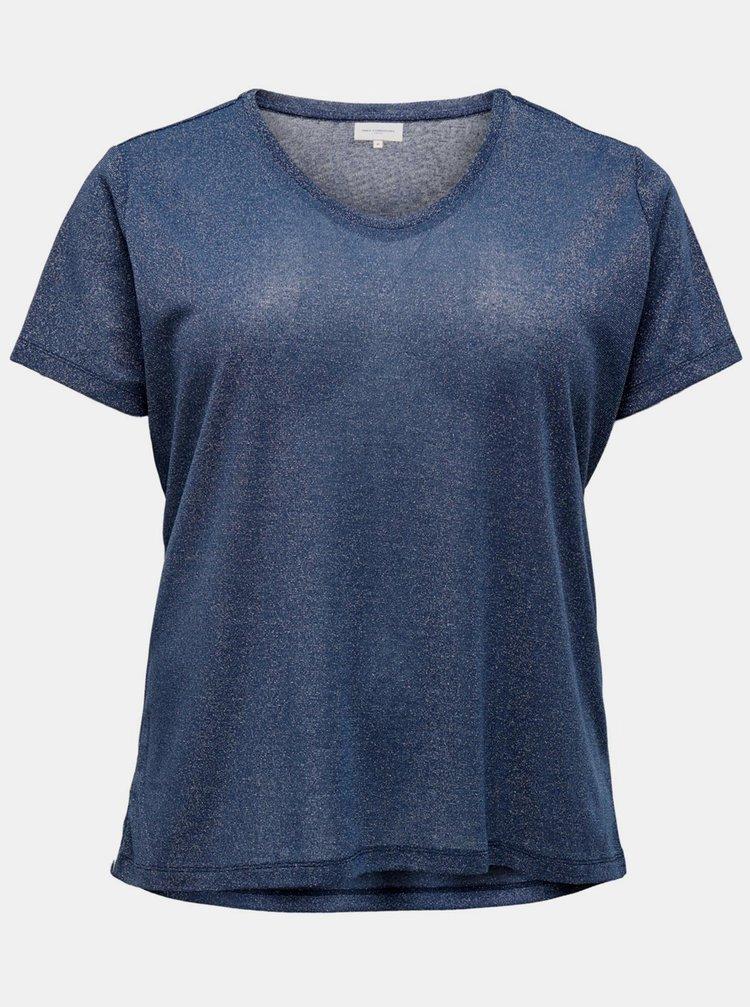 Modré basic tričko ONLY CARMAKOMA Rex
