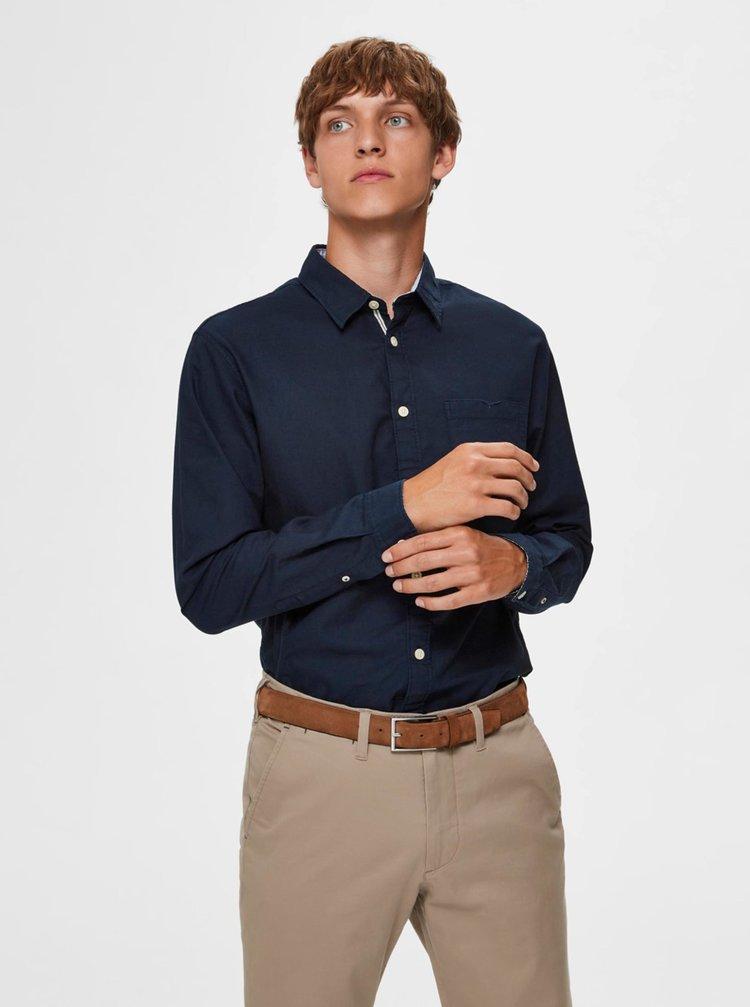 Tmavomodrá slim fit košeľa Selected Homme Tyler