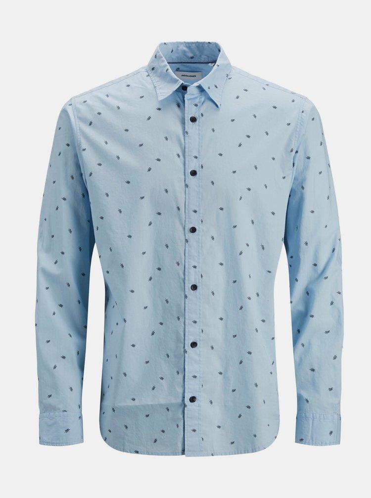 Světle modrá vzorovaná košile Jack & Jones Madison