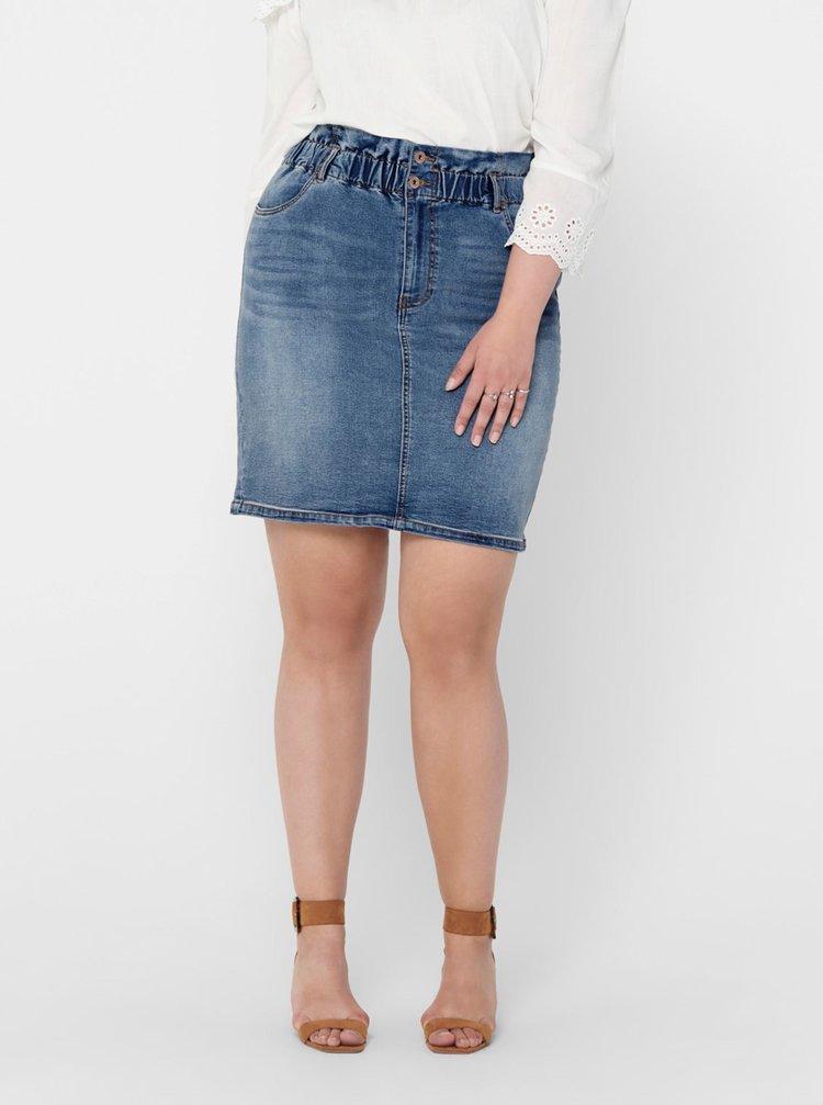 Modrá rifľová sukňa ONLY CARMAKOMA Amy