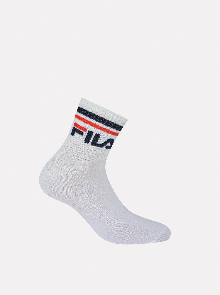 Sada tří párů pánských bílých kotníkových ponožek FILA