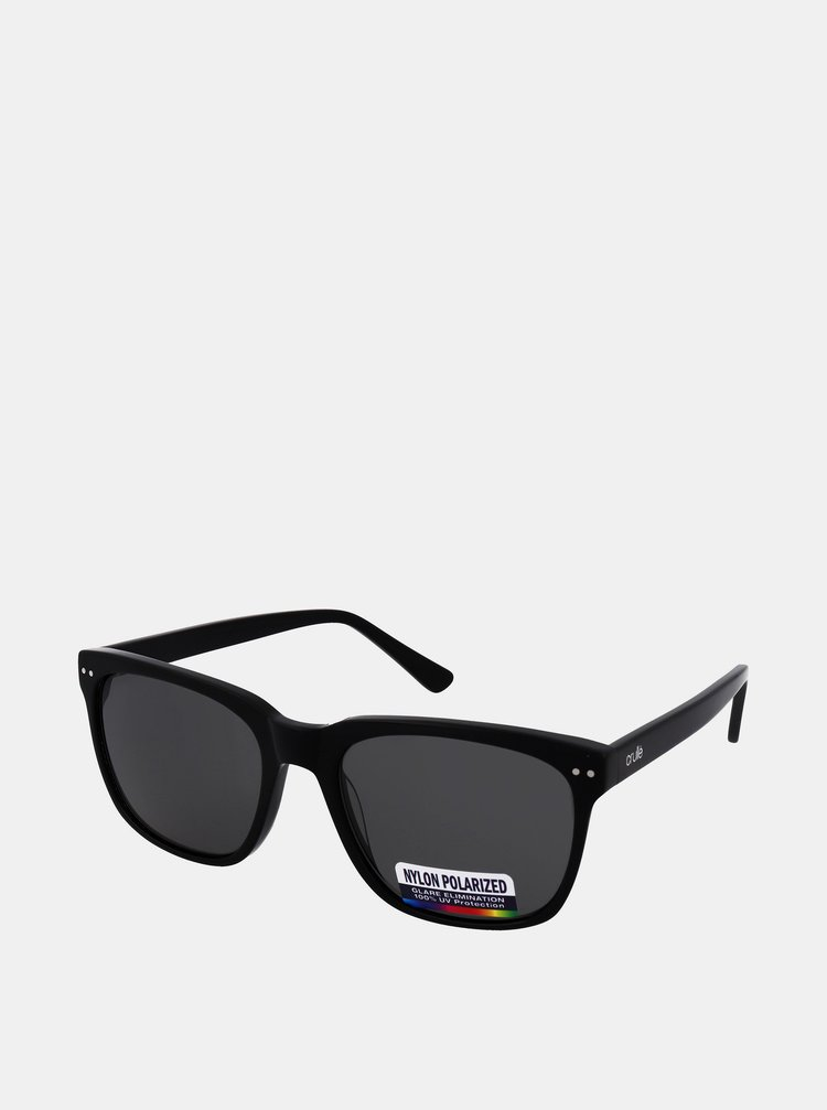 Černé sluneční brýle Crullé