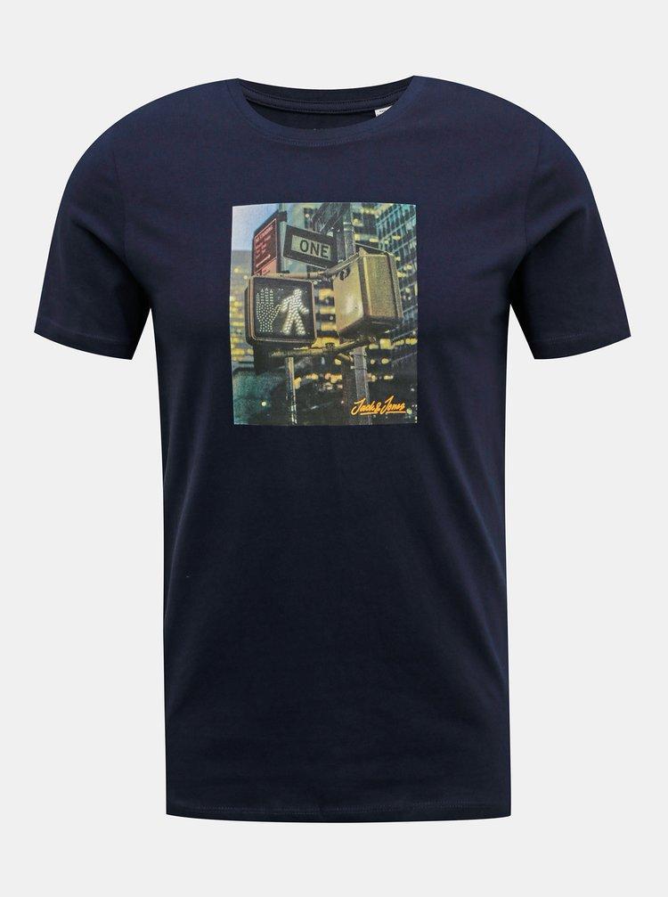 Tmavě modré tričko Jack & Jones Barista