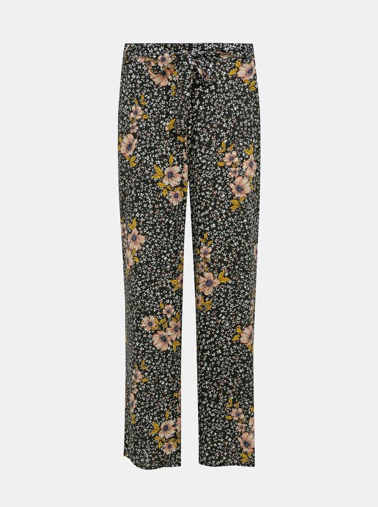 Černé květované kalhoty ONLY Nova