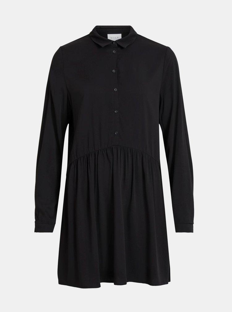 Čierne košeľové šaty VILA Dania