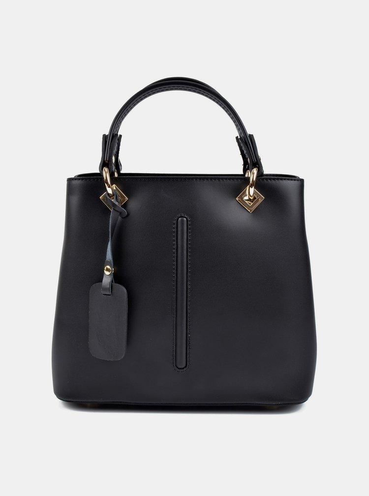 Černá kožená kabelka Roberta M