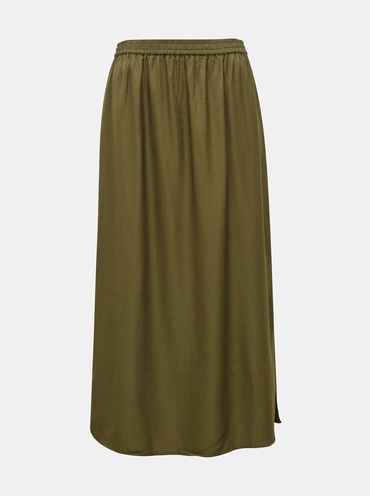 Khaki maxi sukně .OBJECT