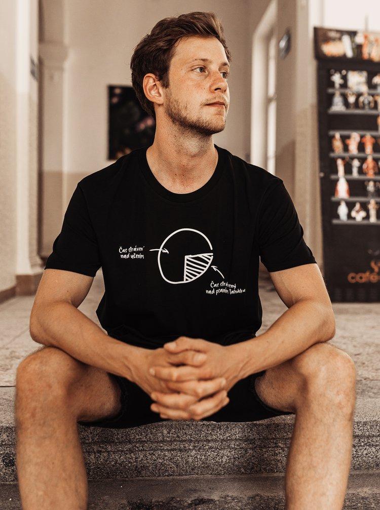 Černé pánské tričko ZOOT Original Není čas ztrácet čas