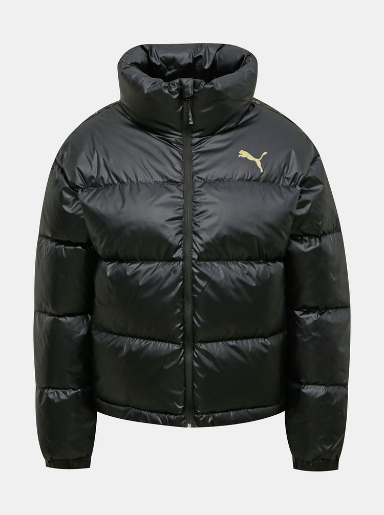 Černá dámská prošívaná zimní bunda Puma