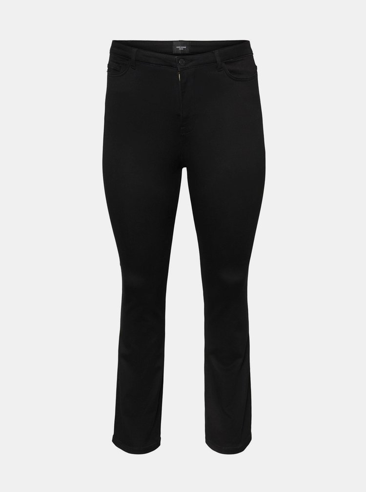 Černé flared fit džíny VERO MODA CURVE Maria