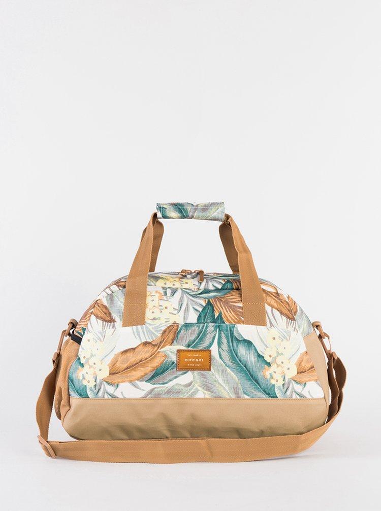 Krémovo-béžová vzorovaná cestovní taška Rip Curl