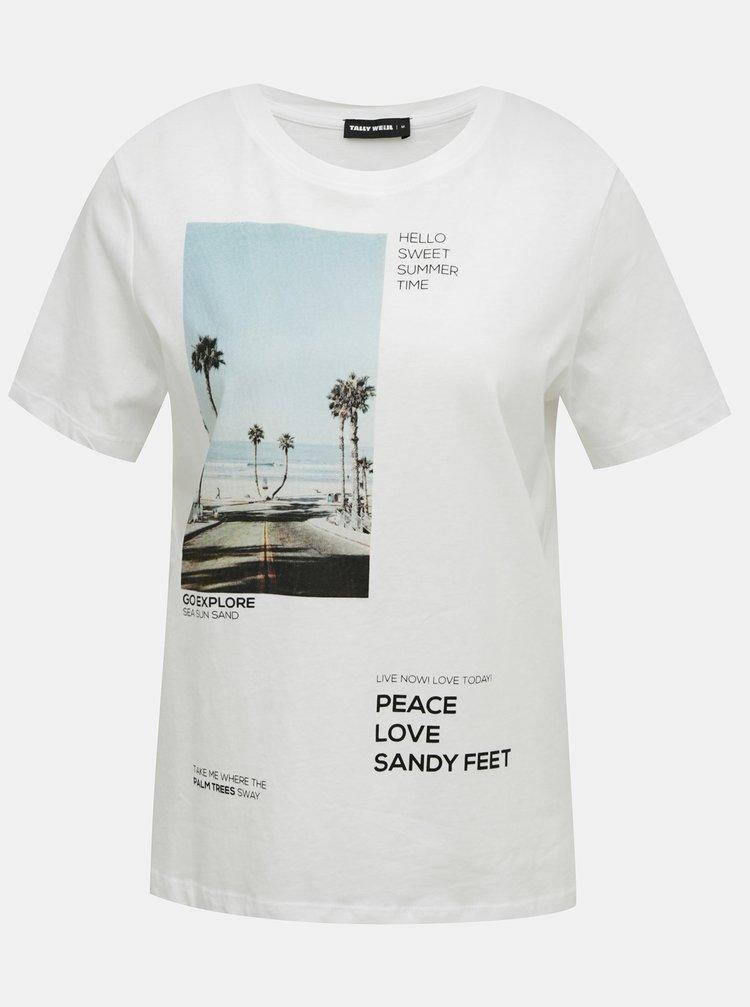 Bílé tričko s potiskem TALLY WEiJL
