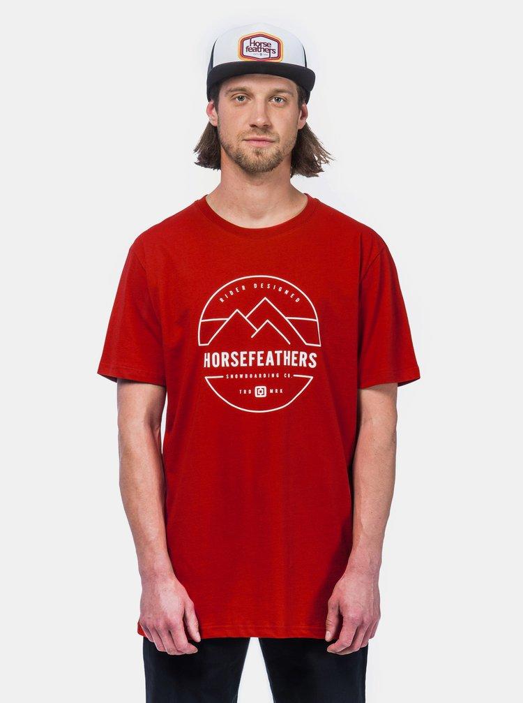 Červené pánské tričko Horsefeathers