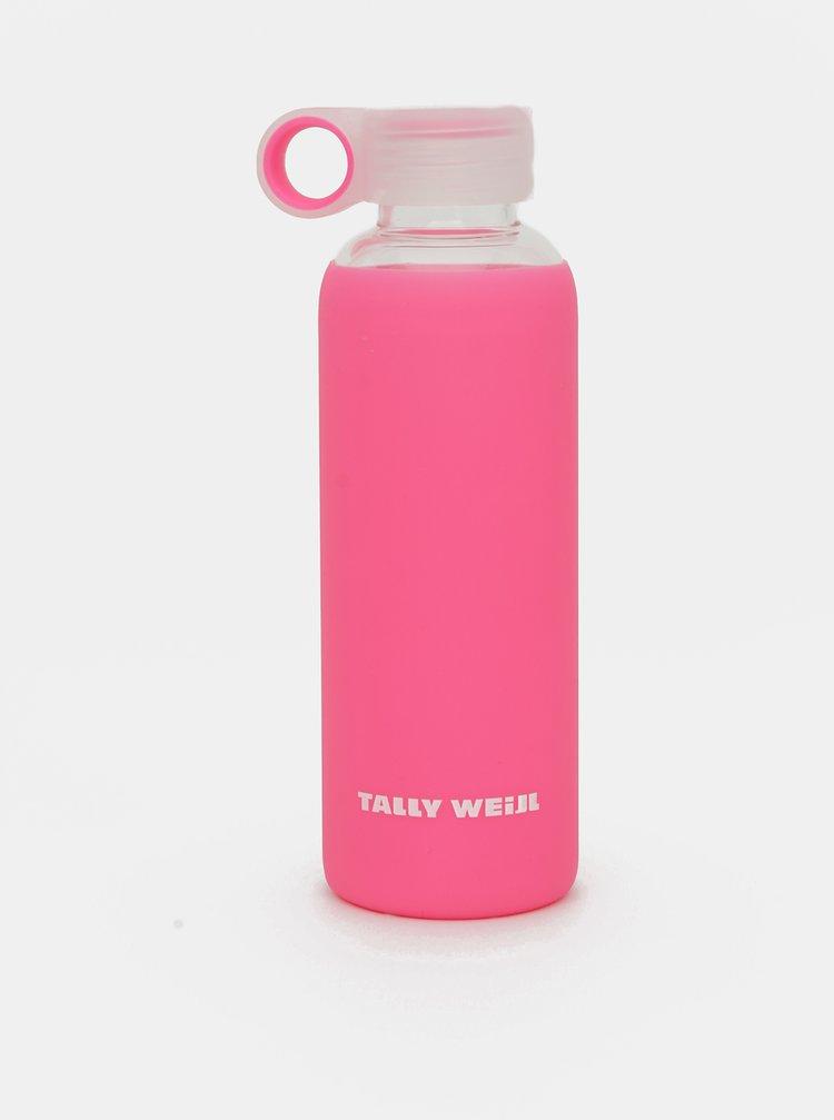 Růžová skleněná láhev TALLY WEiJL