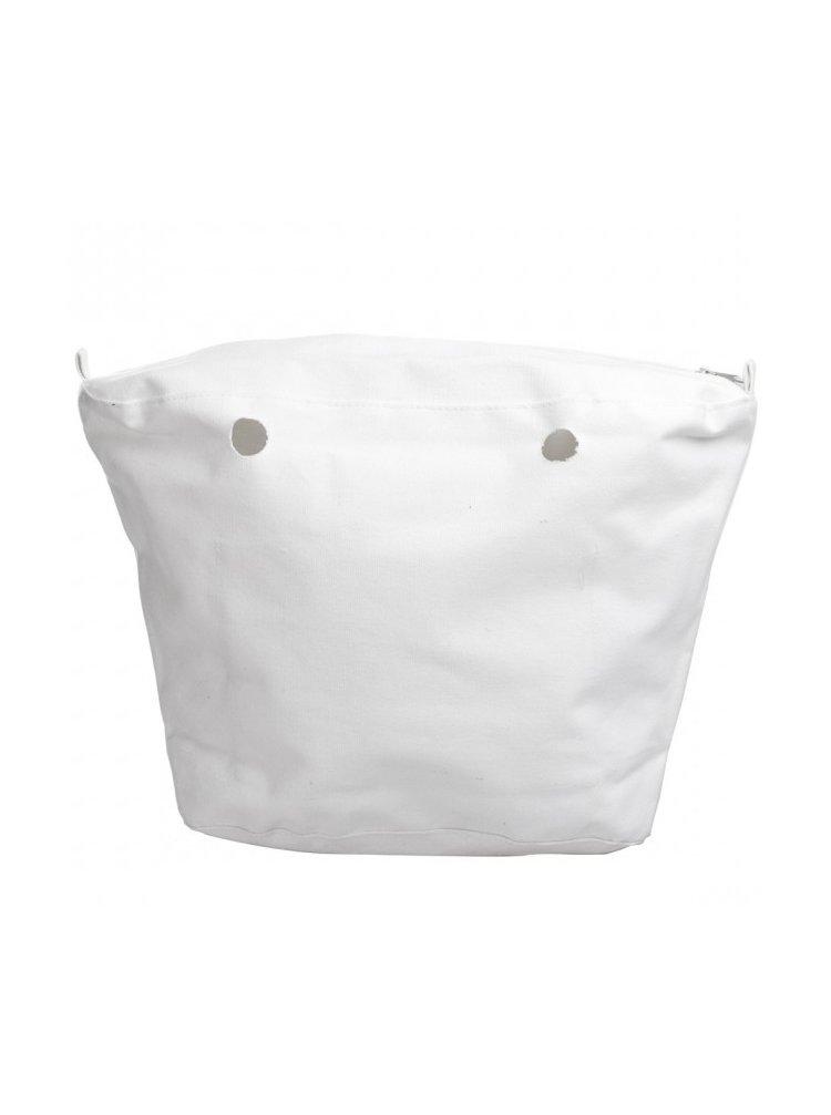 O bag vnitřní plátěná taška bílá