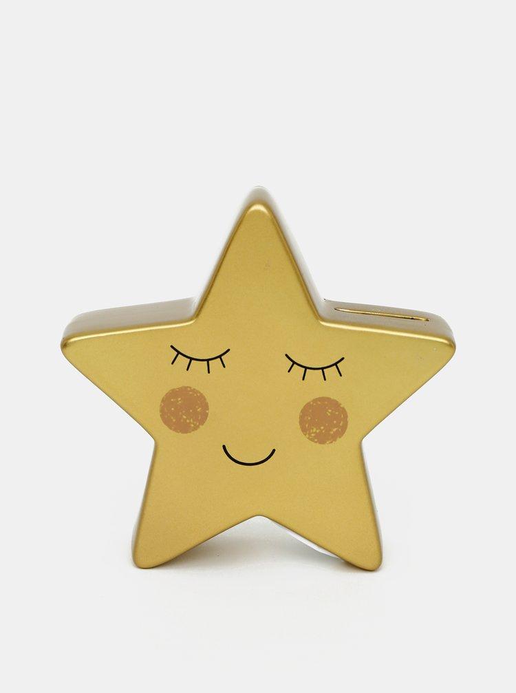 Šporkasa v zlatej farbe v tvare hviezdy Sass & Belle