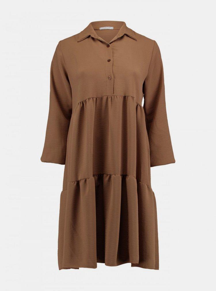Hnedé košeľové šaty Haily´s