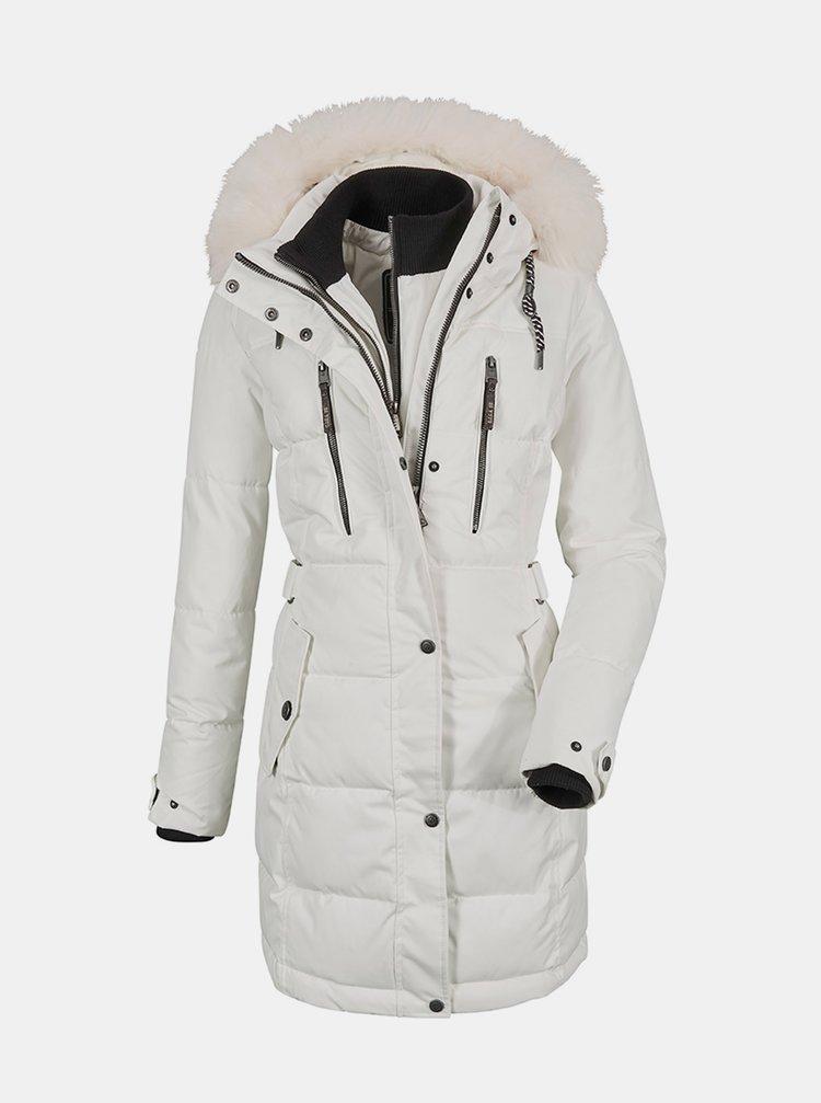 Bílý dámský prošívaný kabát killtec