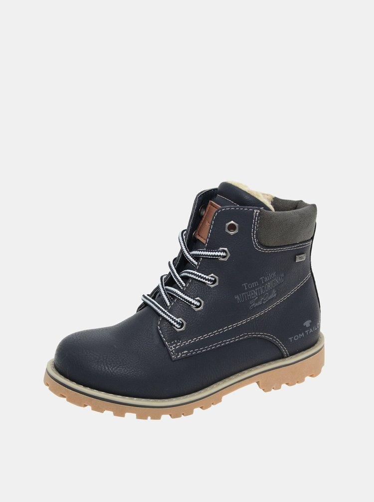 Tmavomodré detské zimné topánky Tom Tailor