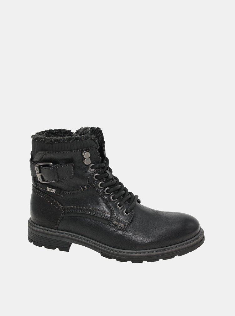 Čierne pánske zimné členkové topánky Tom Tailor