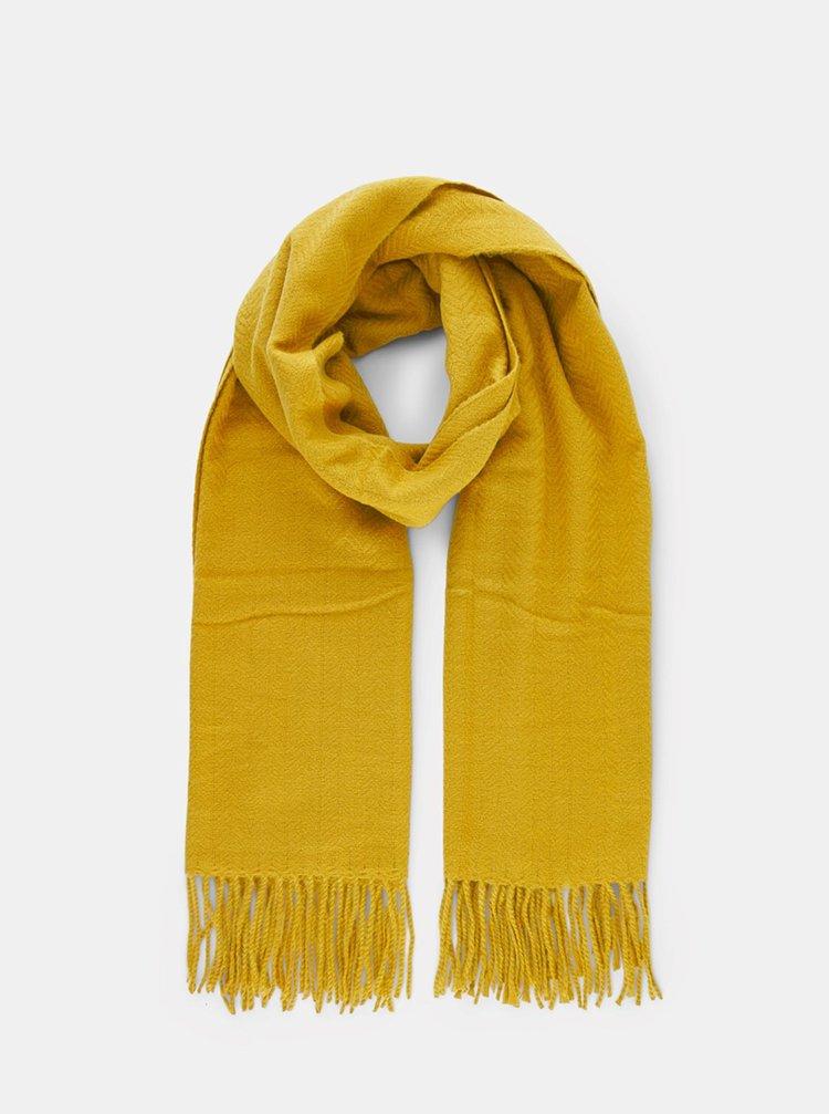Žltý šál Pieces Kial