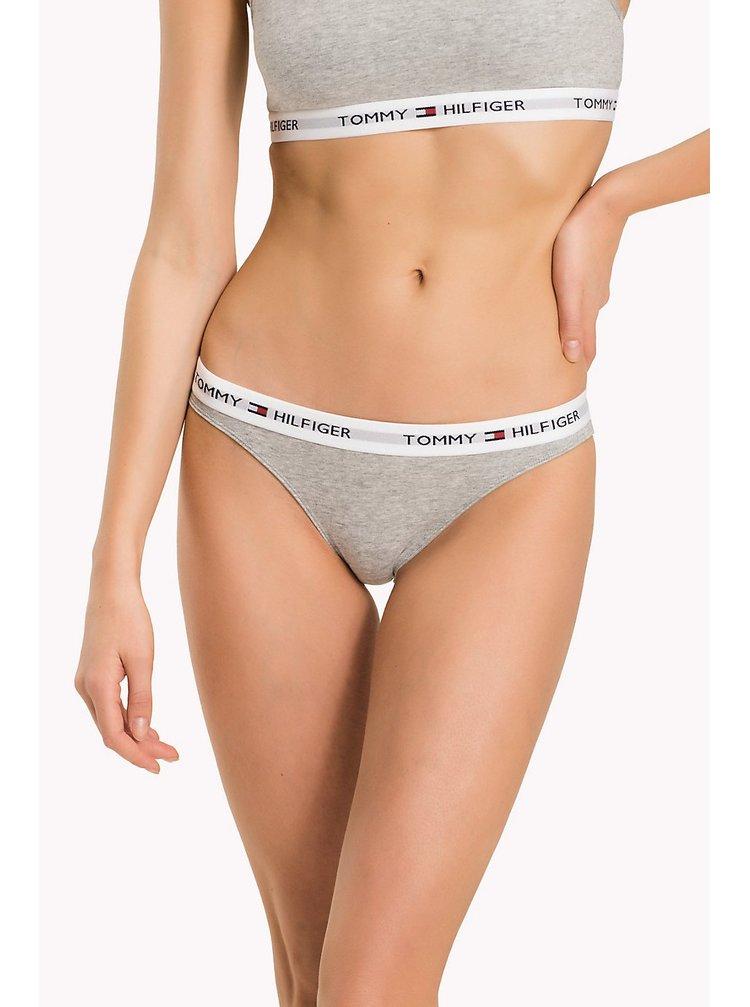Tommy Hilfiger sivé nohavičky Bikini Iconic