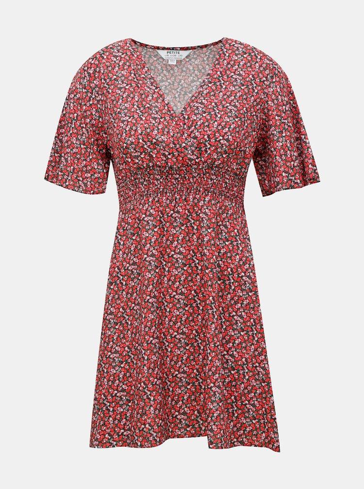 Červené květované šaty Dorothy Perkins Petite