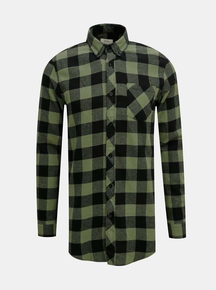 Zelená kockovaná košeľa Redefined Rebel