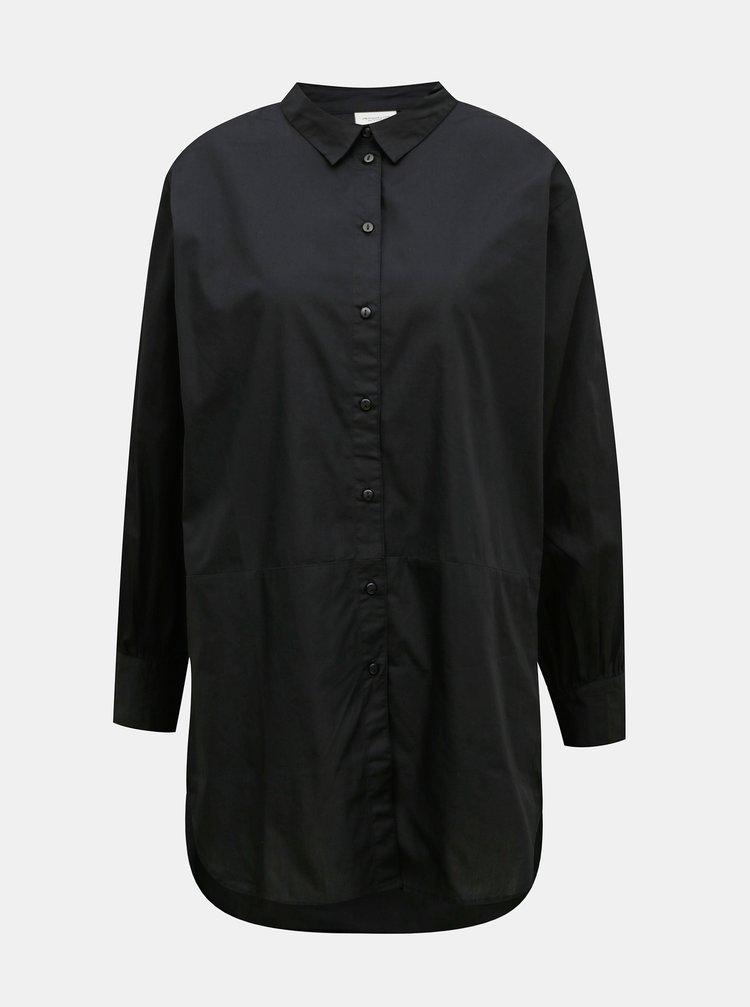 Čierna oversize košeľa Jacqueline de Yong Chiko