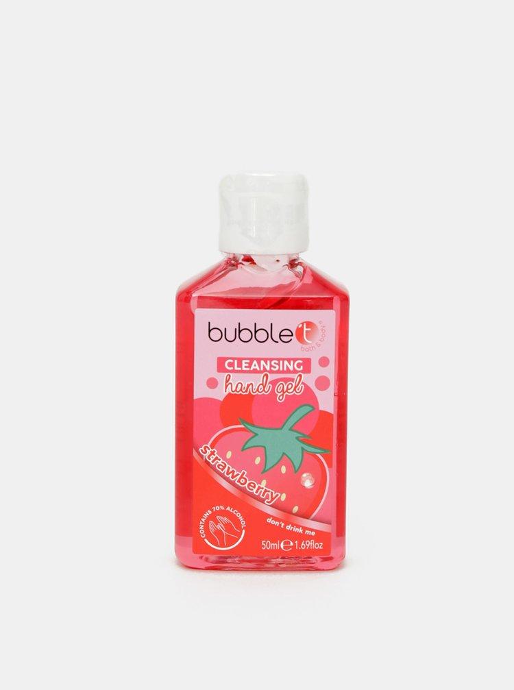Antibakteriální gel na ruce (70% alkoholu) Bubble T Cosmetics Strawberry 50 ml