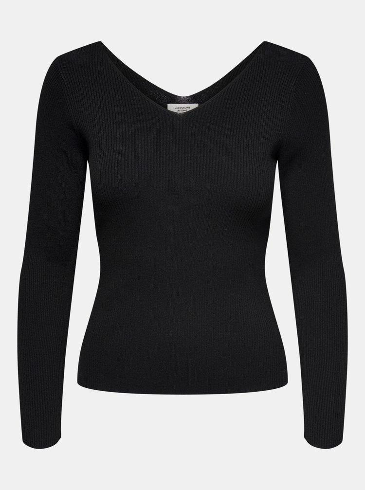 Černé tričko Jacqueline de Yong Nannna